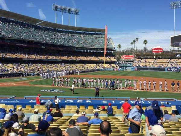 Dodger Stadium, secção: 20FD, fila: S, lugar: 6