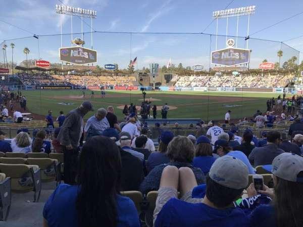 Dodger Stadium, secção: 2fd, fila: l, lugar: 2