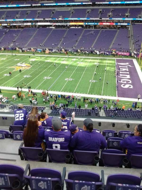 U.S. Bank Stadium, secção: 230, fila: 6, lugar: 17