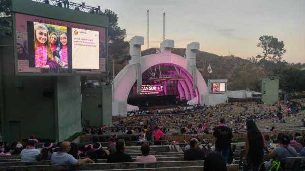 Hollywood Bowl, secção: K3, fila: 14, lugar: 7