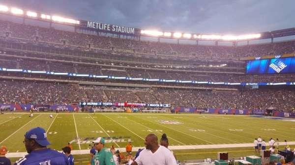 MetLife Stadium, secção: 142, fila: 16, lugar: 1