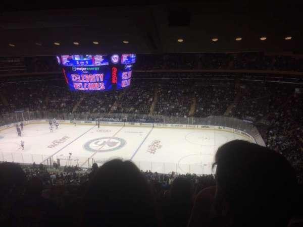 Madison Square Garden, secção: 226, fila: 15, lugar: 6