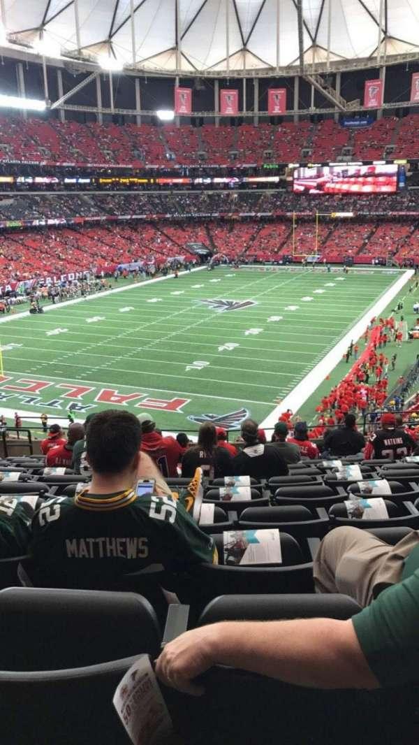 Georgia Dome, secção: 205, fila: 14, lugar: 5