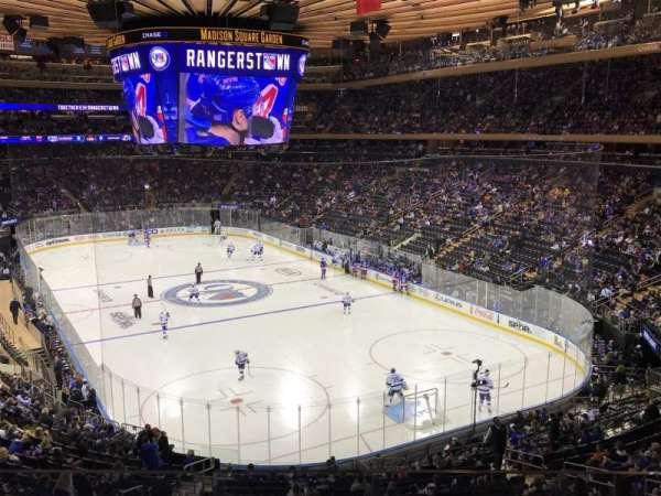 Madison Square Garden, secção: 202, fila: 2, lugar: 13