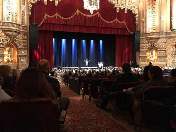 Fox Theatre (Detroit), secção: F2, fila: EE, lugar: 214