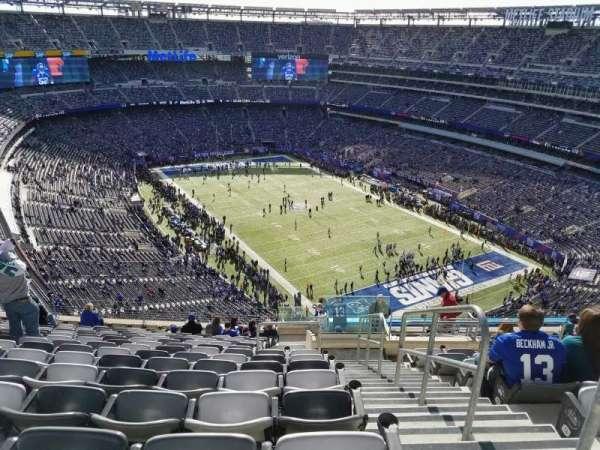 MetLife Stadium, secção: 306, fila: 19, lugar: 1