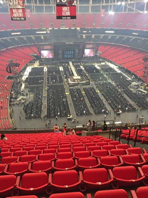 Georgia Dome, secção: 310, fila: 24