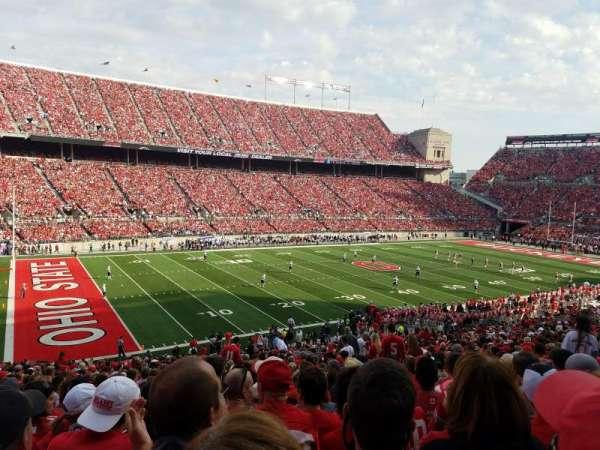 Ohio Stadium, secção: 13A, fila: 29, lugar: 21