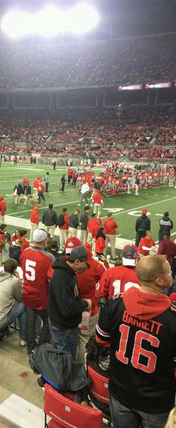 Ohio Stadium, secção: 23A, fila: 7, lugar: 6