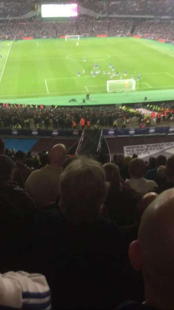 London Stadium, secção: Sir trevor brooking stand uppe, fila: 64, lugar: 51