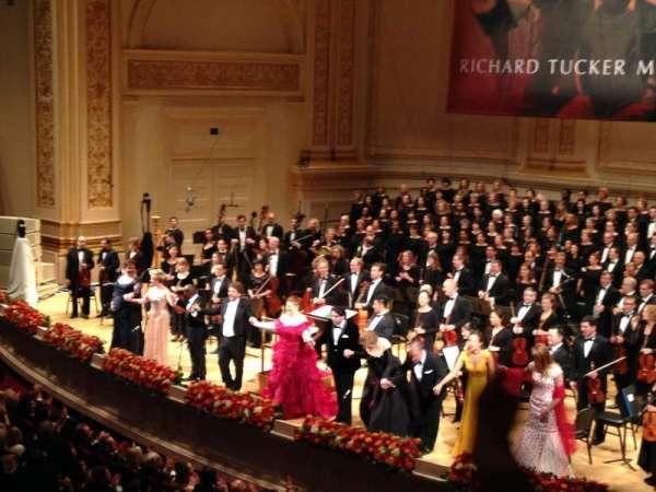 Carnegie Hall, secção: Box 13, fila: 2, lugar: 5