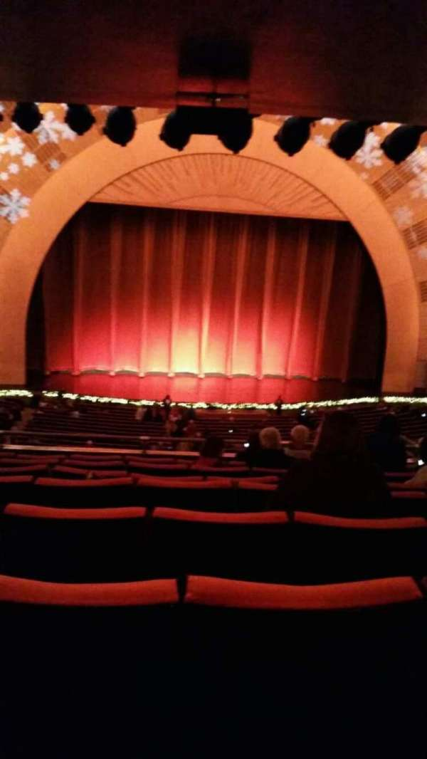 Radio City Music Hall, secção: 1st Mezzanine 5, fila: h, lugar: 512