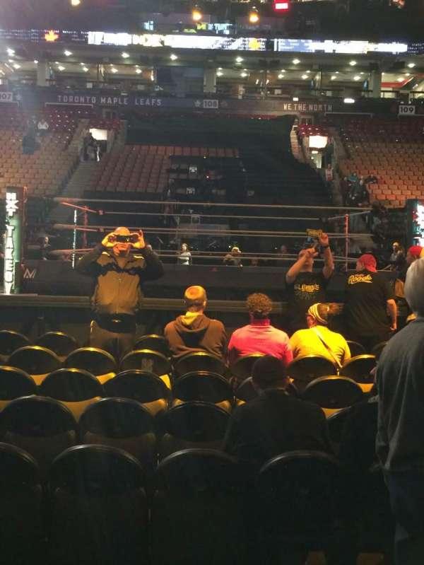 Scotiabank Arena, secção: 119, fila: 2, lugar: 13