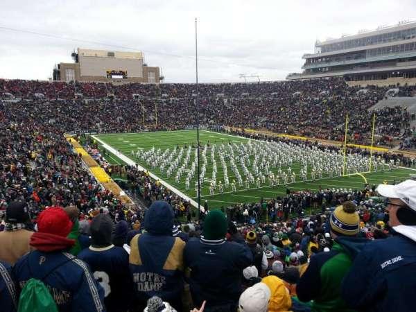 Notre Dame Stadium, secção: 3, fila: 56, lugar: 32