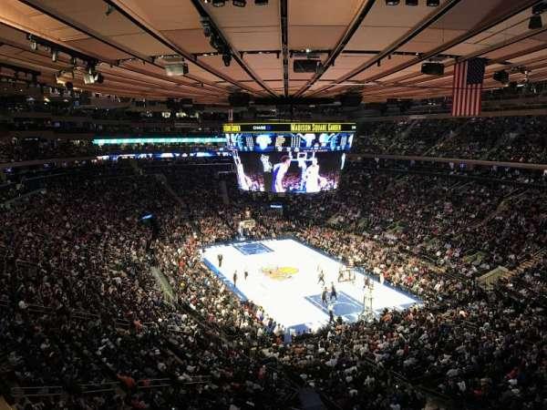 Madison Square Garden, secção: 414, fila: 1, lugar: 13