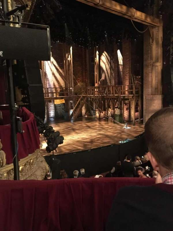 CIBC Theatre, secção: Dress Circle Box 1, fila: A, lugar: 209