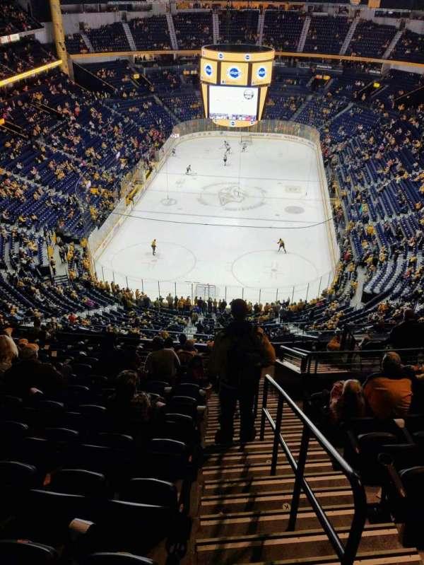 Bridgestone Arena, secção: 301, fila: N, lugar: 1