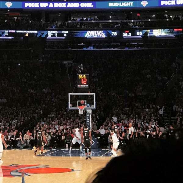 Madison Square Garden, secção: 9, fila: 18, lugar: 3