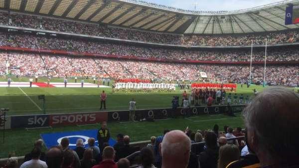 Twickenham Stadium, secção: L7, fila: 10, lugar: 314