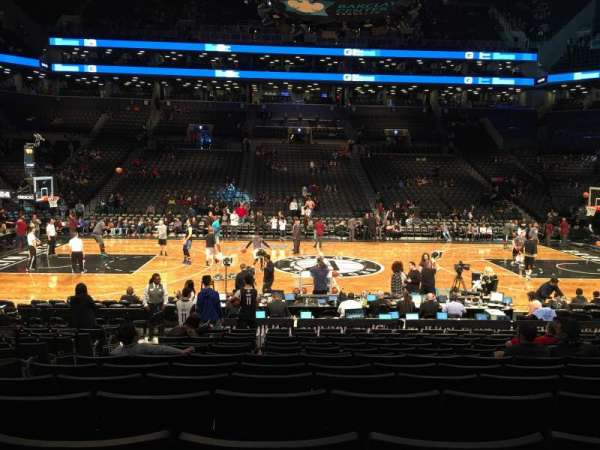 Barclays center, secção: 8, fila: 13, lugar: 15