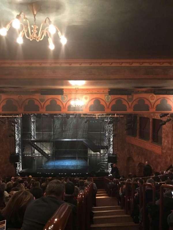 August Wilson Theatre, secção: Mezzanine C, fila: Q, lugar: 102