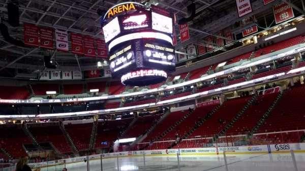 PNC Arena, secção: 101, fila: H, lugar: 3