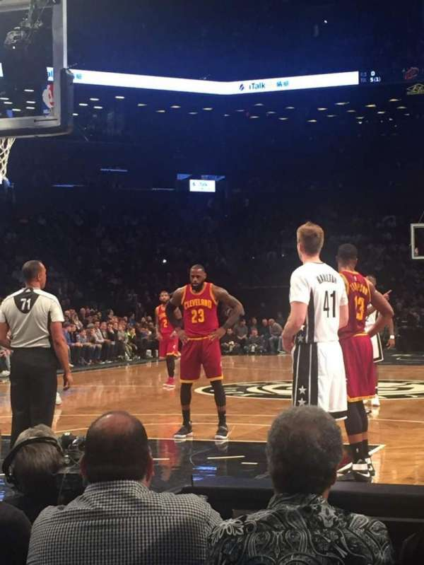 Barclays Center, secção: 16, fila: C, lugar: 1