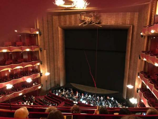 Metropolitan Opera House - Lincoln Center, secção: Balcony, fila: D, lugar: 10