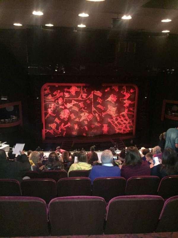 Minskoff Theatre, secção: Mezzanine, fila: K, lugar: 113