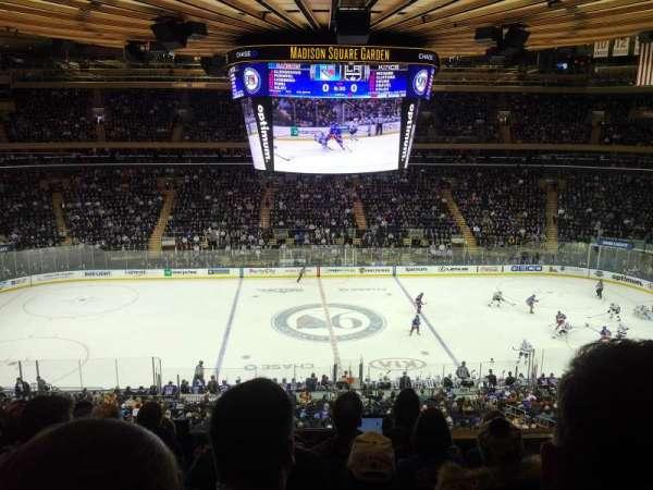 Madison Square Garden, secção: 211, fila: 7, lugar: 2