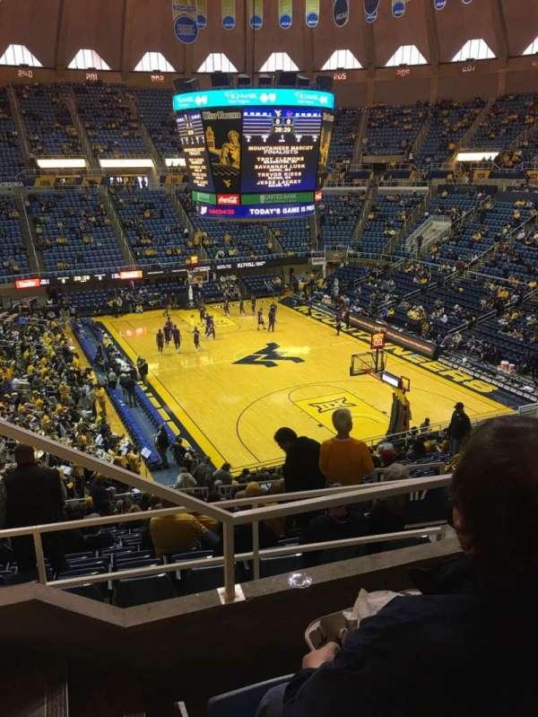 WVU Coliseum, secção: 223, fila: C, lugar: 10