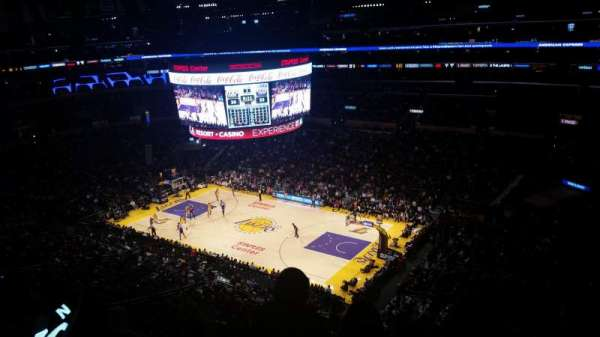 Staples Center, secção: 315, fila: 3, lugar: 1