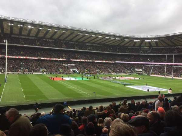 Twickenham Stadium, secção: East Lower, fila: L28, lugar: 309