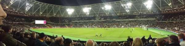 London Stadium, secção: 138, fila: 17, lugar: 175