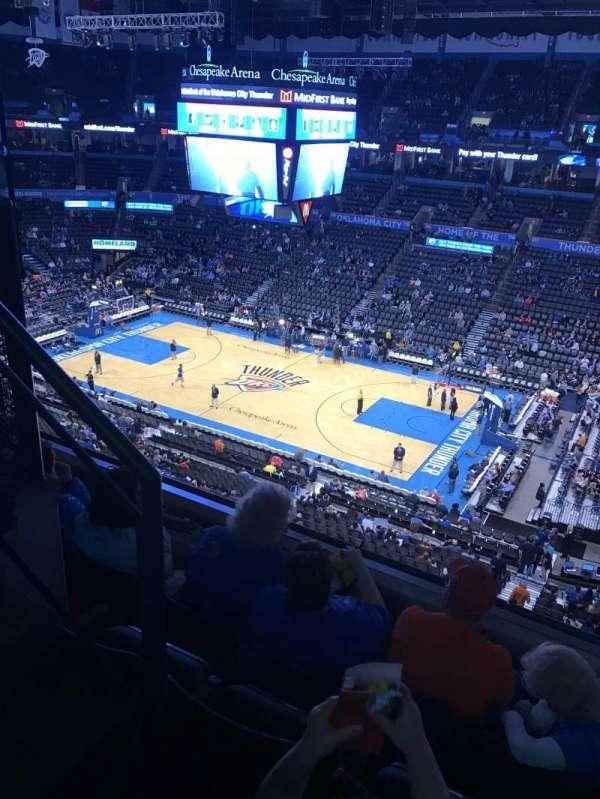 Chesapeake Energy Arena, secção: 306, fila: D, lugar: 14