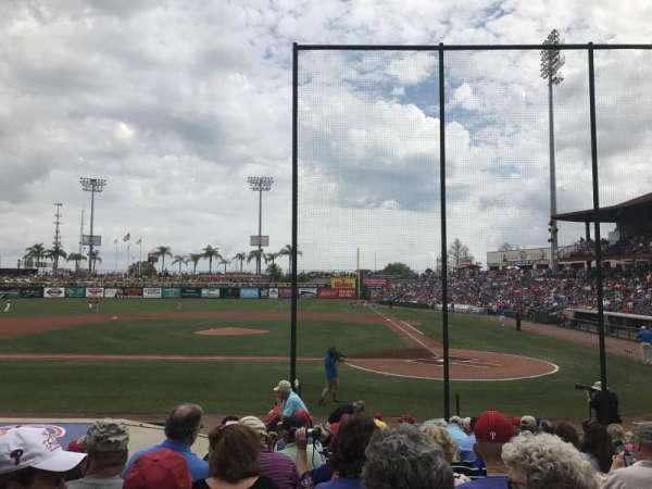 BayCare Ballpark, secção: 114, fila: 12, lugar: 10