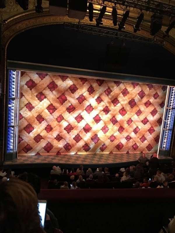 Brooks Atkinson Theatre, secção: Front Mezzanine L, fila: C, lugar: 1