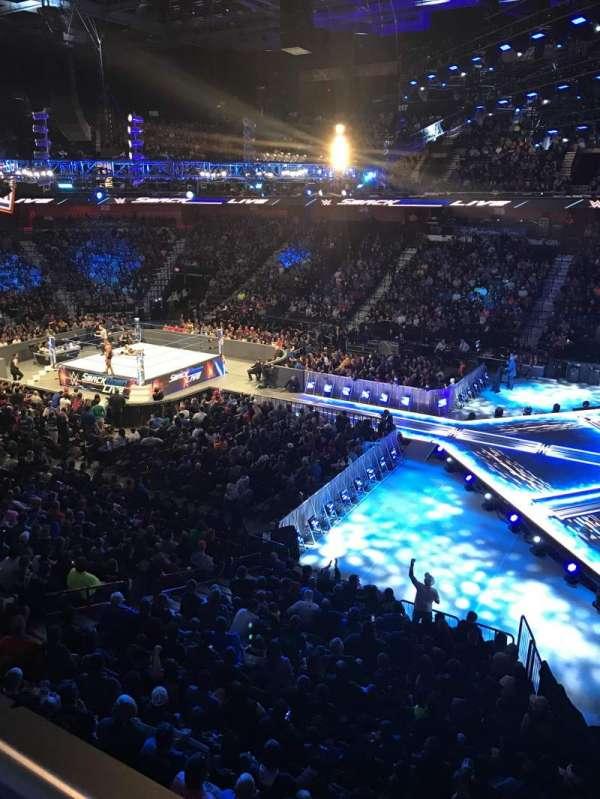 Mohegan Sun Arena, secção: 105, fila: A, lugar: 3
