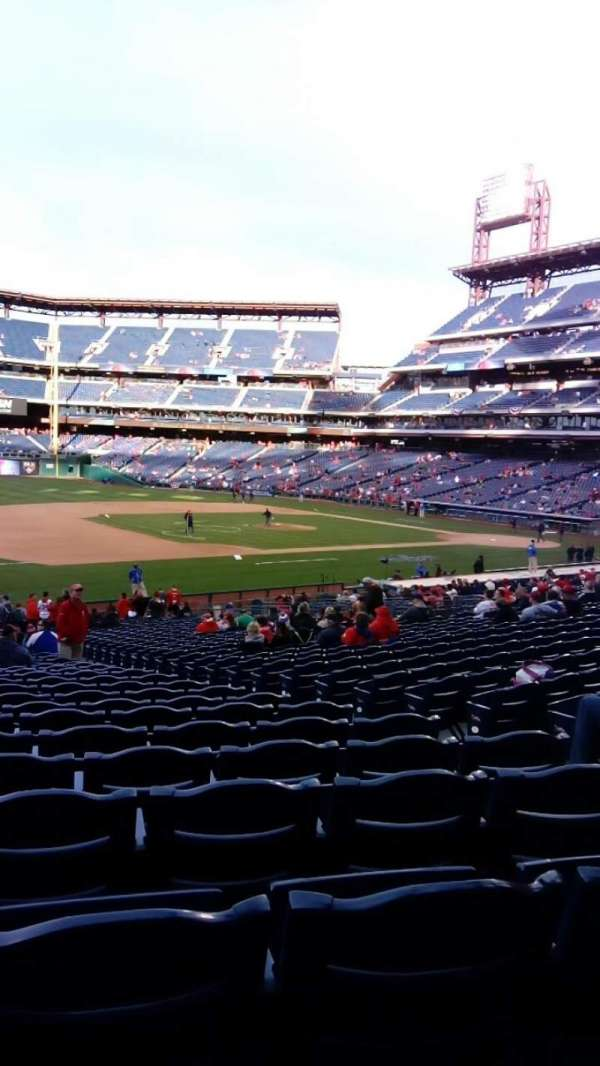 Citizens Bank Park, secção: 134, fila: 35, lugar: 5