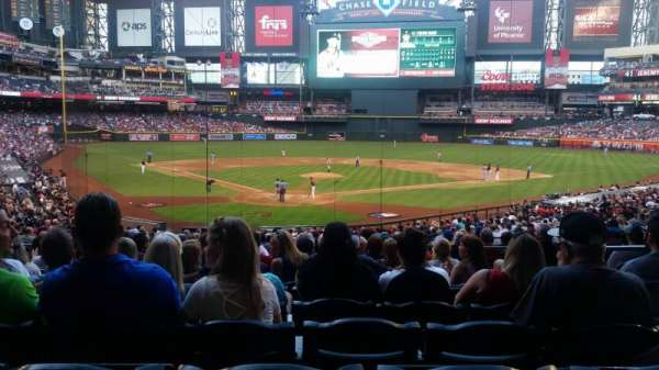 Chase Field, secção: 121, fila: 35, lugar: 4 and 5