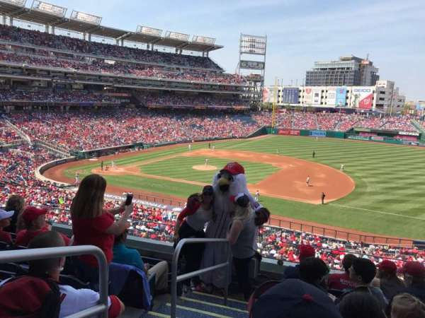 Nationals Park, secção: 221, fila: F, lugar: 10