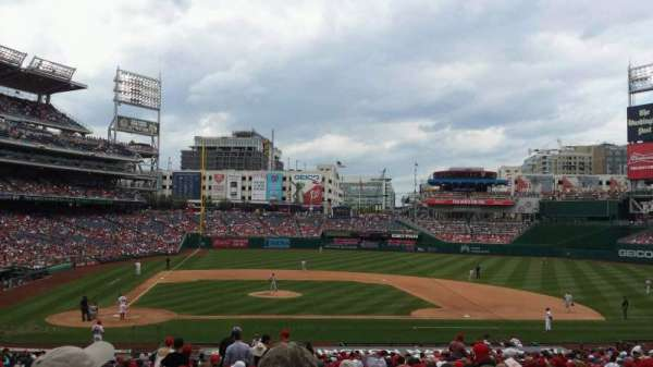 Nationals Park, secção: 128, fila: NN, lugar: 15