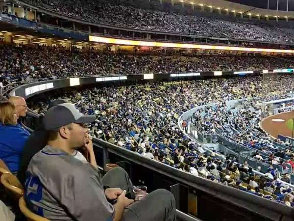 Dodger Stadium, secção: 116LG, fila: B, lugar: 2