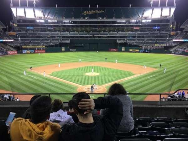 Oakland Coliseum, secção: 217, fila: 6, lugar: 6