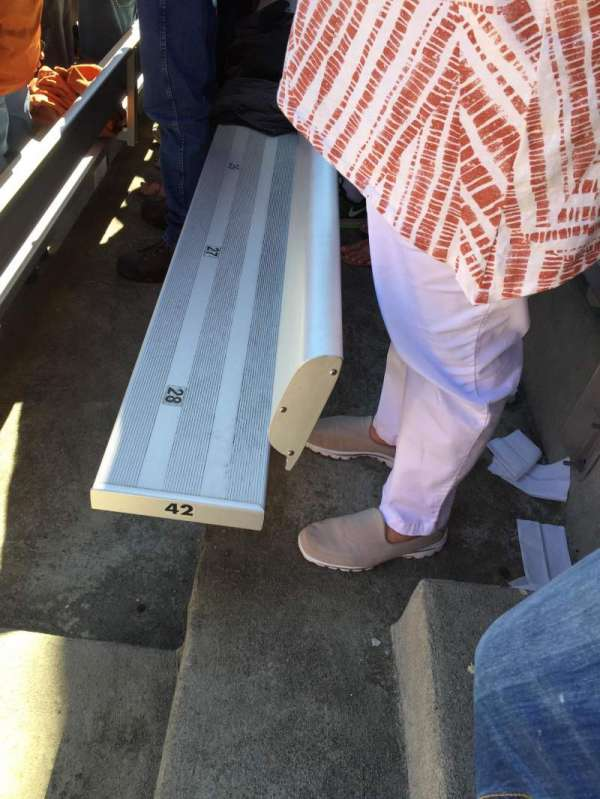 Cotton Bowl, secção: 10, fila: 42, lugar: 28