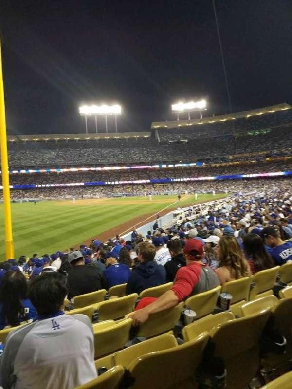 Dodger Stadium, secção: 49FD, fila: R, lugar: 20