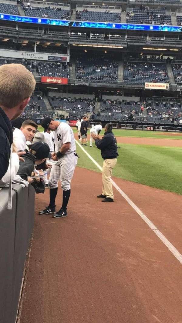 Yankee Stadium, secção: 110, fila: 3, lugar: 5