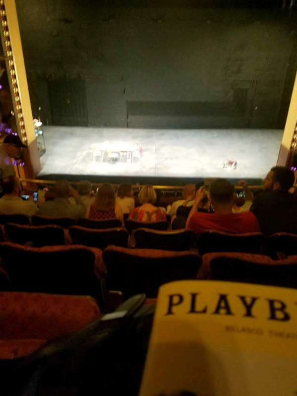 Belasco Theatre, secção: Mezzanine C, fila: f, lugar: 107