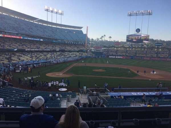 Dodger Stadium, secção: 126LG, fila: D, lugar: 2