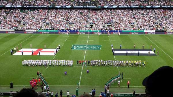 Twickenham Stadium, secção: M7, fila: 70, lugar: 169